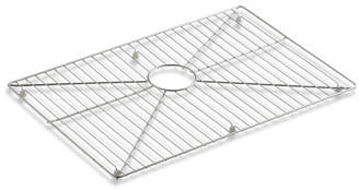 "Kohler Vault /Strive Stainless Steel Sink Rack, 26"" x 16-11/16"" for 30"" Single-Bowl Apron-Front Sink"