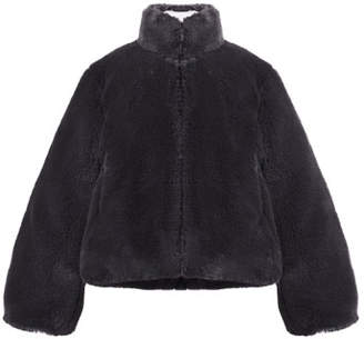 Imoga Faux-Fur Jacket w/ Sequin Heart Patch, Size 8-14