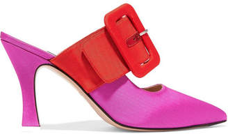 ATTICO Chloe Two-tone Moire Mules - Pink
