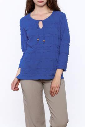 Lulu B Fringe Blue Top