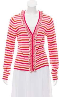 Magaschoni Striped Silk-Blend Cardigan w/ Tags