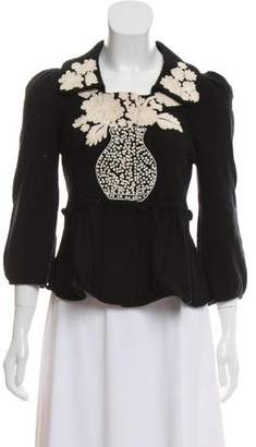 Leifsdottir Wool Embroidered Cardigan