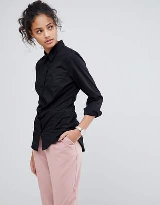 Asos DESIGN long sleeve shirt in stretch cotton