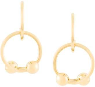 J.W.Anderson Looped double ball earrings