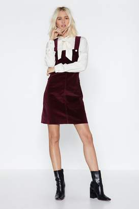 Nasty Gal Set the Re-cord Straight Pinafore Dress
