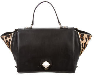 Kate Spade New York Leather & Ponyhair Satchel $125 thestylecure.com