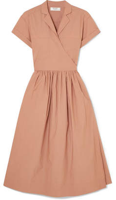 Sea Calah Cotton-poplin Wrap Dress - Blush