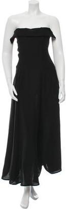 Yohji Yamamoto Strapless Midi Dress w/ Tags $645 thestylecure.com