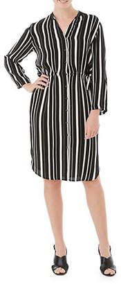 Olsen Striped Shirtdress