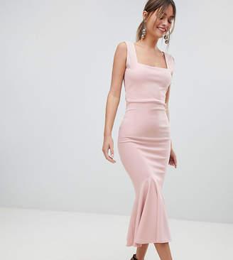 boohoo Sleeveless Fishtail Midi Dress