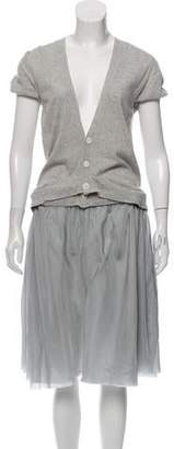 Sacai Sweater Cut Out Dress