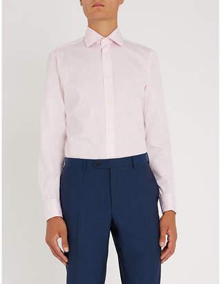 Duchamp Floral-print tailored-fit cotton-jacquard shirt