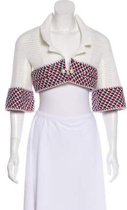 Chanel Cropped Mesh Jacket