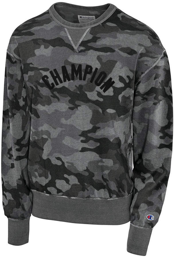 Champion Men's Camo-Print Fleece Logo Sweatshirt