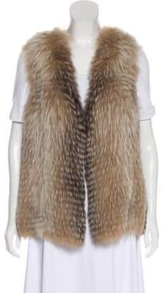 Blumarine Fox Fur Vest brown Fox Fur Vest