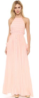 Mara Hoffman Gauze Stripe Halter Dress $319 thestylecure.com