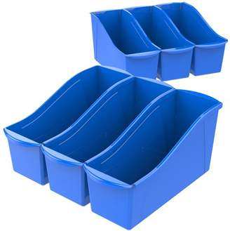 Storex Large Book Holder Bin,Classroom Blue