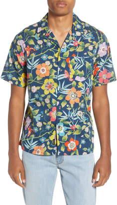 Todd Snyder Liberty Oversize Tropical Print Camp Shirt