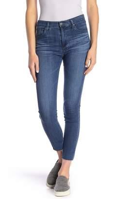 AG Jeans Farrah Raw Hem Skinny Ankle Jeans