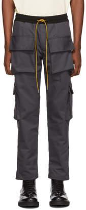 Rhude Grey Twill Cargo Pants