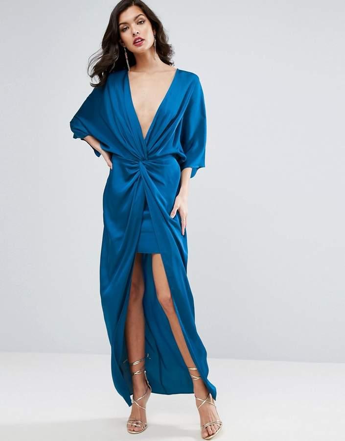 AsosASOS Kimono Twist Front Maxi Dress