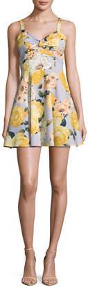 Speechless Sleeveless Floral A-Line Dress-Juniors