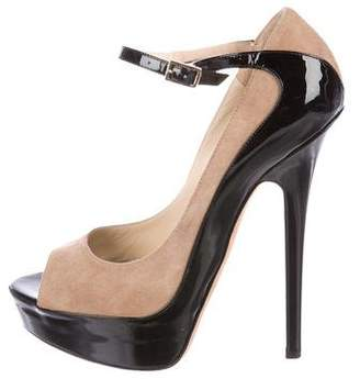 Jimmy Choo Peep-Toe Embossed-Trim Pumps clearance best pay with paypal online with mastercard cheap price new for sale PwWJUMkL8u