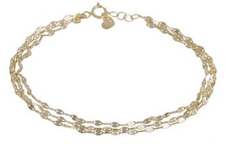 ONLINE Three Strand Bracelet 10kt Yellow Gold 7+.05""