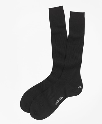 Brooks Brothers Merino Wool Garter Sized Over-the-Calf Socks