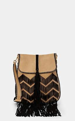 Alberta Ferretti Women's Fringed Suede Shoulder Bag - Black