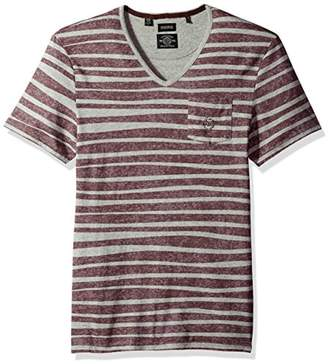Buffalo David Bitton Men's Kableach Short Sleeve V-Neck Fashion Knit Shirt
