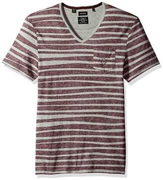 Buffalo David Bitton Men's Kableach Short Sleeve V-Neck Fashion Knit Shirt