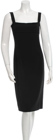 prada Prada Sleeveless A-Line Dress