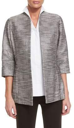 Misook Silver Linings Metallic Jacket, Plus Size