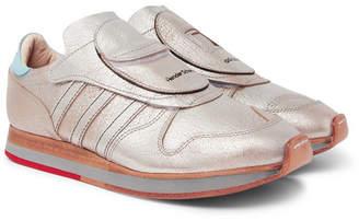 adidas Consortium Consortium - Hender Scheme MicroPacer Metallic Textured-Leather Sneakers - Men - Silver