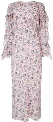 Les Rêveries pink floral dress