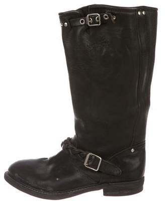 Golden Goose Leather Biker Boots