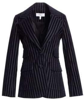 Derek Lam 10 Crosby Stripe Velvet Blazer