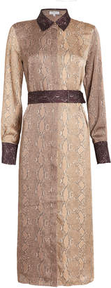 Equipment Christabella Python Print Belted Dress