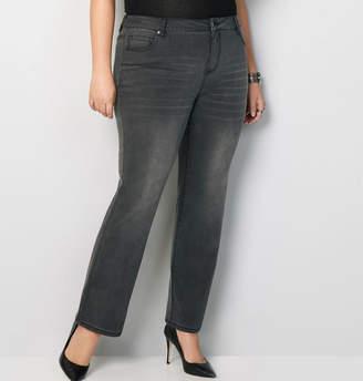 Avenue Bootcut Jean in Dark Grey