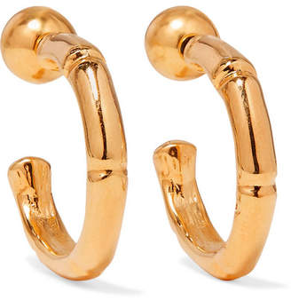 Sophie Buhai Thin Bamboo Gold Vermeil Hoop Earrings One Size