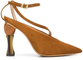 Jacquemus geometric heel pumps