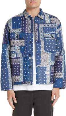 Bedwin&the Heartbreakers BEDWIN & THE HEARTBREAKERS Richards Bandana Print Shirt Jacket