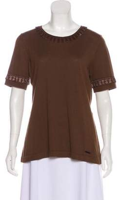 Burberry Short Sleeve Wool Top