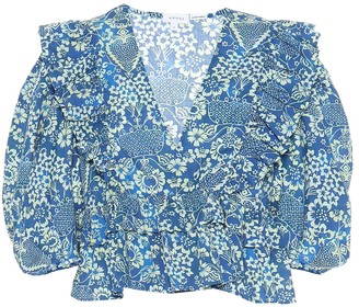 Rhode Resort Elodie floral cotton top
