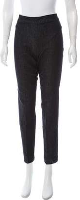 The Row High-Rise Wide-Leg Jeggings