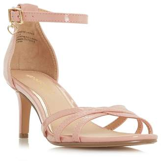 Head Over Heels by Dune - Natural 'Melodi' Ankle Strap Sandals
