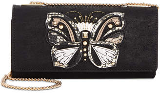 INC International Concepts I.N.C. Butterfly Suede Crossbody Wallet, Created for Macy's