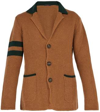 THE GIGI College contrast-stripe wool cardigan