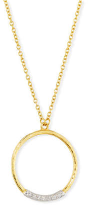 Gurhan Delicate Geo Diamond Pavé Pendant Necklace